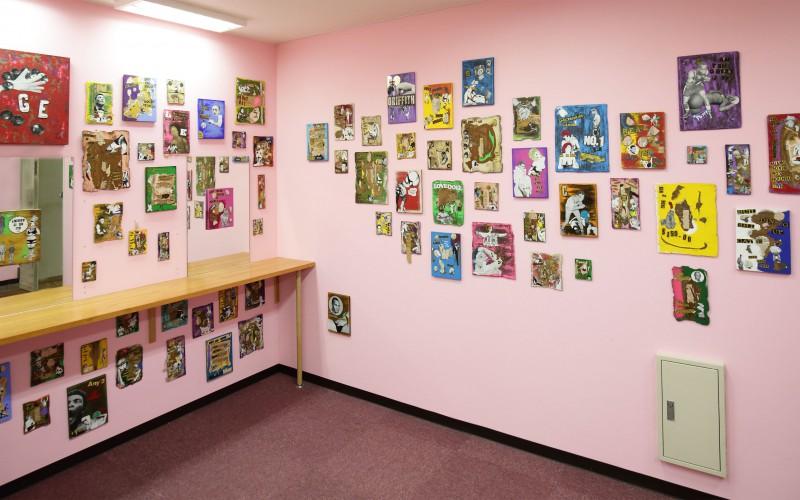 onizukakatsuya FIGHTING ART 2014 EIIBITION onikide2  pink room